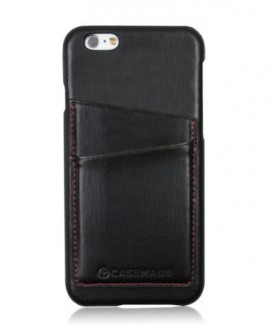 iPhone black leather shell case