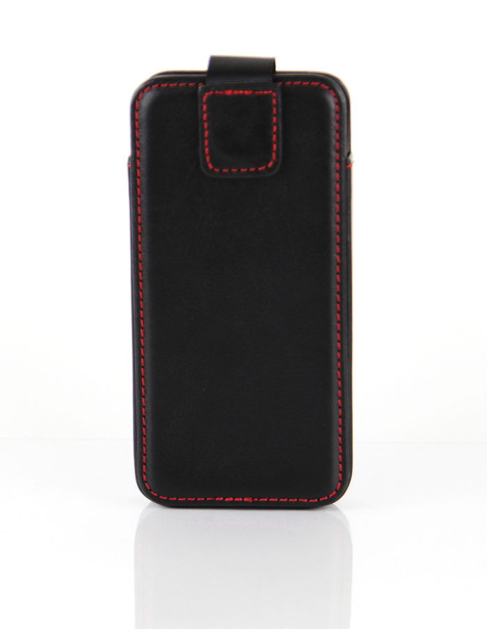 Apple iPhone 5S Leather Pouch Case | Black
